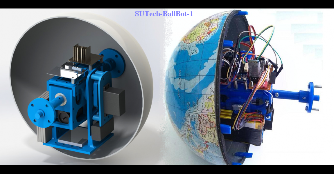 The first spherical mobile robot of SUTech, namely BALLBOT-1, was showcased and tested successfully at MAE department