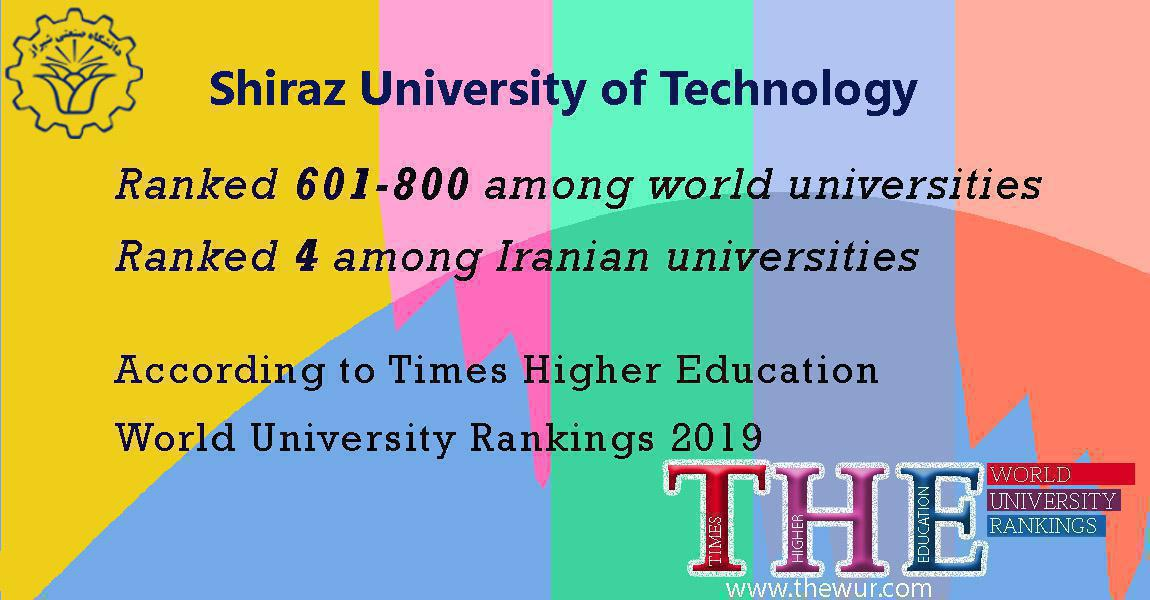 The first appearance of Shiraz University of Technology in Times Higher Education ranking system